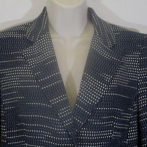 Bar III Womens Small Blue Textured Blazer